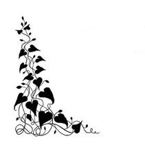 Transparent Stempel: Pflanze Efeu