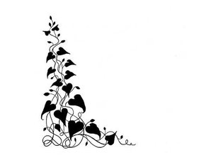 Stempel / Stamp: Transparent Transparent stempel: vedbend plante