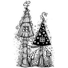 Stempel / Stamp: Transparent timbro trasparente: casa elfi