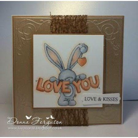 Crafters Company: BeBunni Stempel Gummi Stempel, BeBunni Thema: I Love You