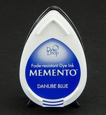 FARBE / INK / CHALKS ... MEMENTO dewdrops stamp ink InkPad-Danube Blue