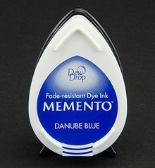 FARBE / INK / CHALKS ... Memento dugdråber stempel blæk InkPad-Donau Blå