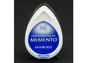 FARBE / INK / CHALKS ... las gotas de rocío MEMENTO sello de tinta InkPad-Danubio Azul