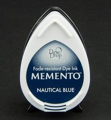 FARBE / INK / CHALKS ... gocce di rugiada MEMENTO timbro a inchiostro InkPad-nautico blu