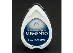 FARBE / INK / CHALKS ... MEMENTO dewdrops stamp ink InkPad-Nautical Blue