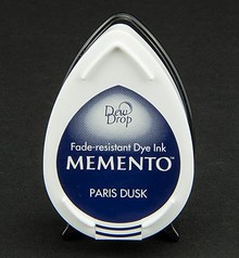 FARBE / INK / CHALKS ... gocce di rugiada MEMENTO timbro a inchiostro InkPad-Paris Dusk