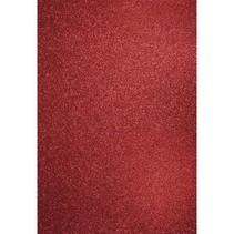 A4 Bastelkarton: Glitter kardinalrot