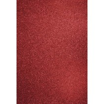 A4 craft carton: Glitter cardinal red