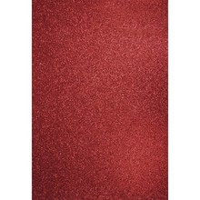 DESIGNER BLÖCKE  / DESIGNER PAPER A4 Bastelkarton: Glitter kardinalrot