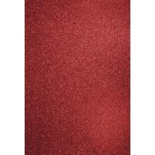 DESIGNER BLÖCKE  / DESIGNER PAPER A4 håndværk karton: Glitter kardinal rød