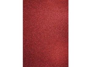 DESIGNER BLÖCKE  / DESIGNER PAPER A4 nave cartón: Glitter cardenal rojo