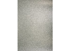 DESIGNER BLÖCKE  / DESIGNER PAPER A4 craft carton: Glitter silver