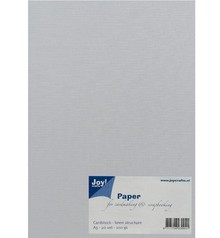 Joy!Crafts und JM Creation A5, paper, linen structure, white
