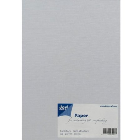 Joy!Crafts und JM Creation A5, papel, tipo lino, blanco