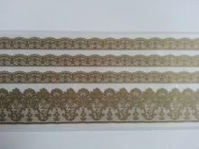 REDDY Spitze Bordüren Rub On Transfer, beige-gold farbe