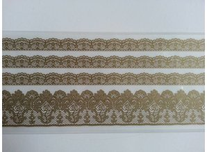 REDDY Lace borders Rub On Transfer, beige-gold color