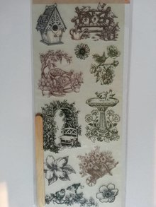 Joy!Crafts und JM Creation Rub On Transfer motifs, 11 garden designs