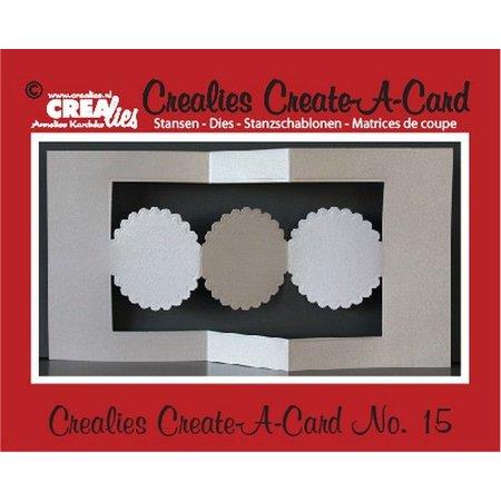 Crealies und CraftEmotions Crealies Opret en kort nr. 15 for hulkort