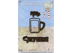 Yvonne Creations Stamping and embossing template: Beer Glass