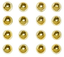 Embellishments / Verzierungen Halbperlen Perlen Sticker, 7mm, 16 Stück, gold