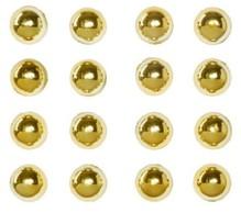 Embellishments / Verzierungen Halfpearls Pearl klistermærker, 7mm, 16 stykker, guld