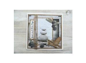 Marianne Design Troquelado y estampado en relieve plantilla: Tumbona