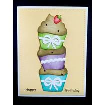Ponsen en embossing sjabloon: Cupcakes
