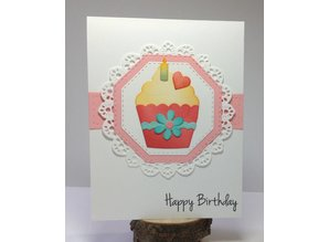 Elisabeth Craft Dies Punching and embossing template: Cupcakes