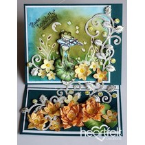 1 stamp sets + matching stamping and embossing stencil