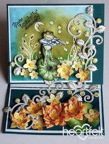 Heartfelt Creations aus USA 1 bollo set + corrispondenza di stampaggio e goffratura stencil