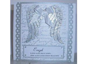 embossing Präge Folder Emboss.templ, gamle skrifttype