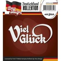 Ponsen en embossing sjablonen: Duits Tekst: Good luck