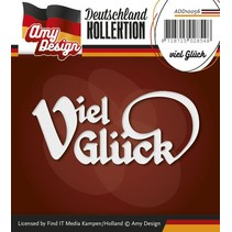 Punching and embossing templates: German Text: Good luck