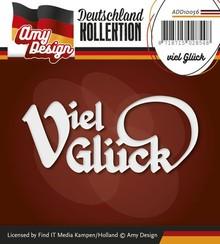Amy Design Stansning og prægning skabeloner: Tysk Tekst: Held og lykke