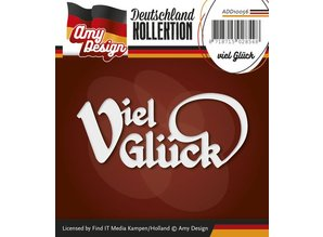 Amy Design Punching and embossing templates: German Text: Good luck