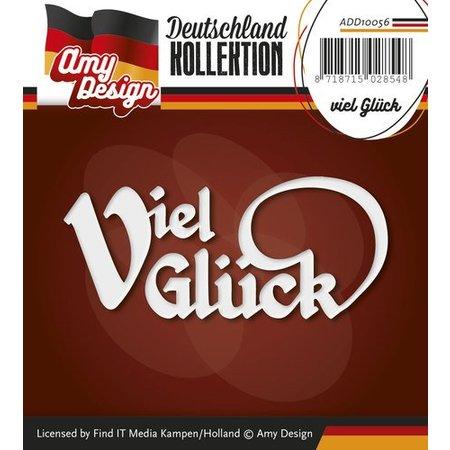 Amy Design Stanz- und Prägeschablonen: deutsche Text: Viel Glück
