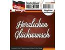 Amy Design Punzonado y estampado en relieve plantillas: texto en alemán: Gracias Glückwunsch