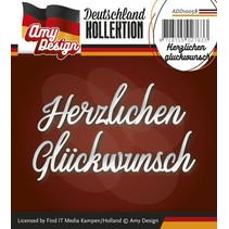 Punching and embossing templates: German text: Thank gluckwunsch