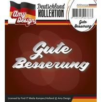 Punching and embossing templates: German Text: Get well soon