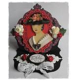Bücher und CD / Magazines 3D Book A5, vrouwen met hoed