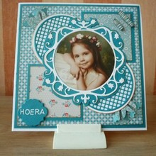 Nellie snellen Vintasia stamping and embossing stencil, round with grid