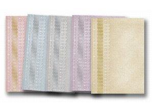 """DESIGNER BLÖCKE  / DESIGNER PAPER 5 arc-deco cuadro de """"puntas"""", laminado en oro en 5 colores!"""