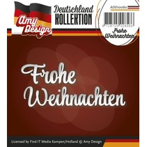 Punching and embossing templates: German text: Merry Christmas