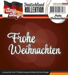 Amy Design Stanz- und Prägeschablonen: deutscher Text: Frohe Weihnachten