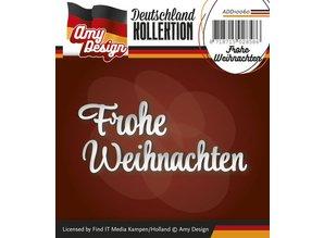 Amy Design Stansning og prægning skabeloner: Tysk tekst: glædelig jul