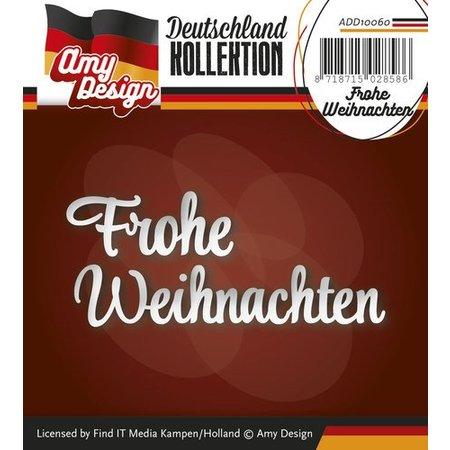 Amy Design Punching and embossing templates: German text: Merry Christmas