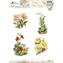 A4 Bilderbogen: Pretty Flowers