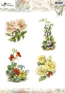 Studio Light A4 Bilderbogen: Smukke blomster