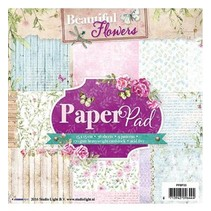 bloc de papel, hermoso tema de las flores