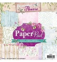 Studio Light Papir pad, Beautiful Flowers Tema